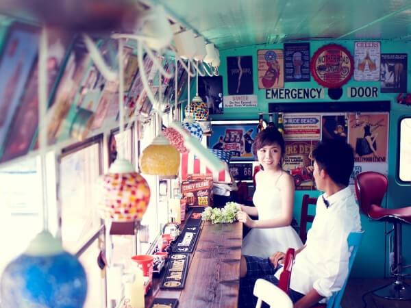 沖繩懷舊風咖啡廳&海灘婚紗攝影方案